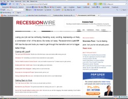 Recessionwire's Snapshot taken by 5kgeek.com